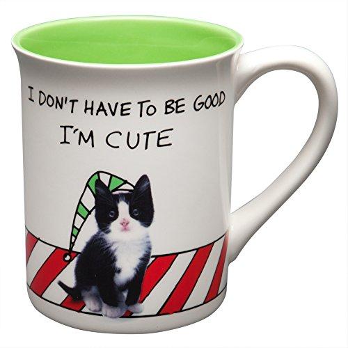 (Enesco Hoots N Howlers Gift Meowy Christmas Mug 16 Oz Mug, 4.5-Inch)