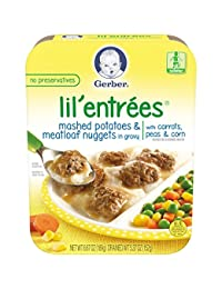 Gerber Graduates Lil Entrees Mashed Potatoes with Meatloaf Nuggets, 6.67 oz.,  8 Count BOBEBE Online Baby Store From New York to Miami and Los Angeles