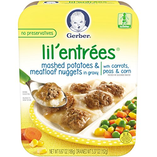 Gerber Graduates Lil Entrees Mashed Potatoes with Meatloaf Nuggets, 6.67 oz.,  8 Count