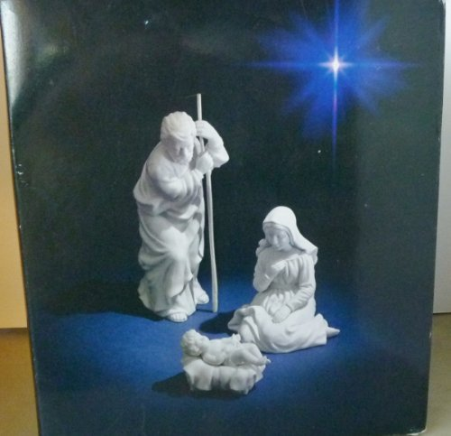 NATIVITY AVON COLLECTIBLES 1981 HOLY FAMILY 3 PC. PORCELAIN (Avon Collectables)