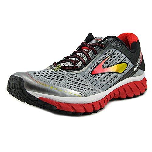 Brooks Ghost 9, Zapatillas de Running para Hombre Alloy/High Risk Red/Black