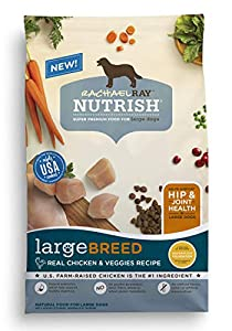 Rachael Ray Nutrish Large Breed Natural Dry Dog Food, Real Chicken & Veggies Recipe, 40 lbs