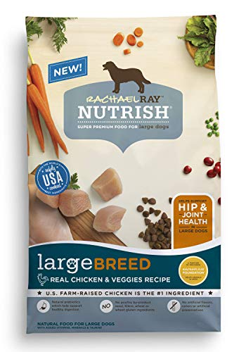 Rachael Ray Nutrish Large Breed Natural Dry Dog Food, Real Chicken & Veggies Recipe, 14 lbs