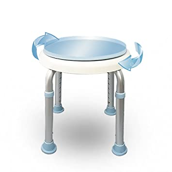 QFFL Tabouret Rotatif Creatif Chaise En Aluminium De Bain Dalliage Reglable