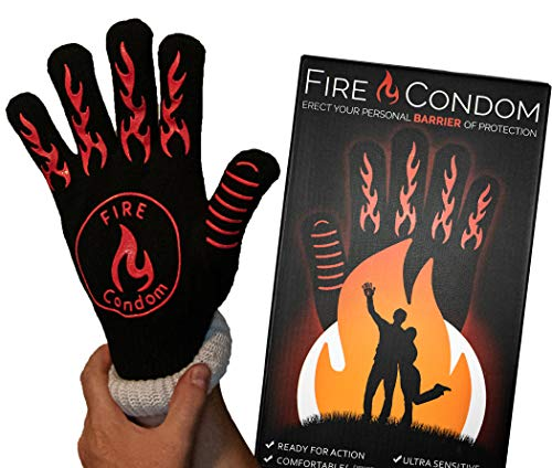 Fire Condom - Heat Resistant Glove - 932 Degrees - BBQ/Weddings/Parties - Hilarious Box and Included Instructions - Practical Gag Gift (What's The Best Condom To Use)