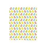 VROSELV Custom Blanket Rubber Duck Colorful Ducklings Baby Animals Theme Pastel Girls Boys Newborn Pattern Bedroom Living Room Dorm Pink Blue Green Yellow