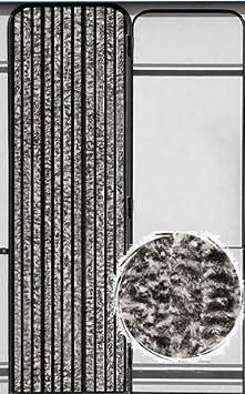 Anti-Insectes Mix Noir//Blanc, 120 x 240 cm Protection de Vos espaces int/érieurs MadeInNature Rideau de Porte Chenille de qualit/é sup/érieure Grand Choix de Couleur Longueur et Largeur Ajustables