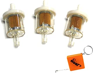 HURI 3pcs Fuel Filter For Briggs & Stratton 691035 493629 695666 John Deere AM1008356 Mower Lawn Tractor Engines