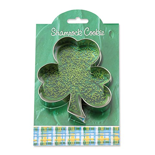Shamrock Cookie and Fondant Cutter - Ann Clark - 4.6 Inches - US Tin Plated Steel ()