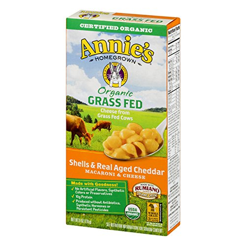 Annie's Organic Grass Fed Shells & Real Aged Cheddar, Macaroni & Cheese, 6 oz by Annie's Homegrown