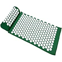 Sivan Health and Fitness®Acupressure Mat and Pillow Set for Lower, Upper, Mid, Chronic Back Pain Treatment, Pillow, Therapy, Reliever - Relieve Your Stress, Back, Neck, and Sciatic Pain