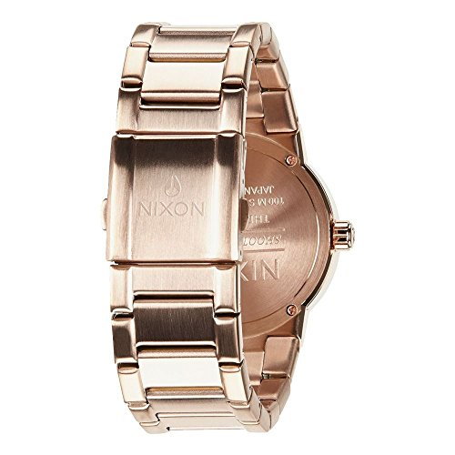 Nixon The Cannon Rose Dial Stainless Steel Quartz Ladies Watch A160-897
