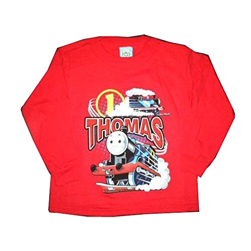 (Thomas The Tank Engine Boy's %100 Percent Cotton Long Sleeve T-shirts (3T, Circle one)