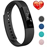 Fitness Tracker with Heart Rate Monitor, Sports Tracker with Blood Pressure Bluetooth Smart Bracelet with Call Remind Sleep Monitor Compatible with Android iOS Phone for Kids Women Men
