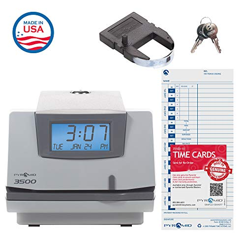(Pyramid 3500 Multi-Purpose Time Clock and Document Stamp - Made in the USA)