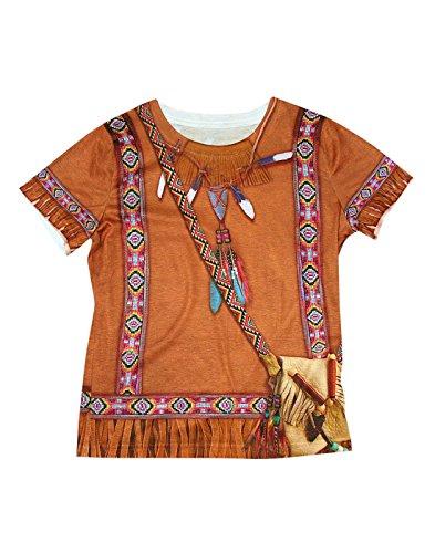 Forum Novelties Native American Girl Photo Real Print Costume Shirt, Multicolor, Small