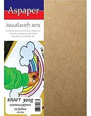 Papel Kraft, Usa Folien, A4, 300 Gramas, 210x297 mm, Pacote com 20