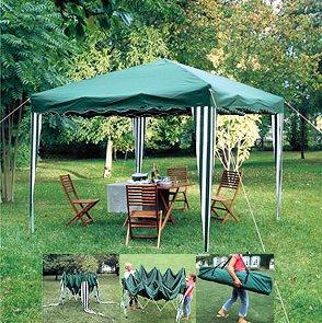 Tonnelle - Pavillon de jardin pliable <br>Modèle de couleur écru ...