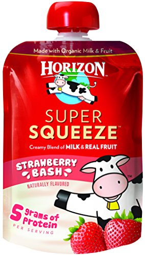 Horizon Organic Super Squeeze Pouch, Strawberry Bash, 4 Count
