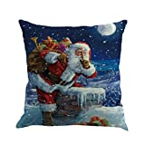 """Pillow case,Rosiest Christmas Printing Dyeing Sofa Bed Home Decor Pillow Cover Cushion Cover Home Decor 45x45 cm/18x18"""" (G)"""