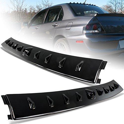 2002-2007 Mitsubishi Lancer EVO Glossy Black Vortex Shark Rear Roof Spoiler Wing (Shark Wing)