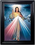 Jesus Angel Framed Holographic Wall Art- Pictures that change images right before your eyes! -Lenticular Technology Artwork, Multiple pictures in 1 Hologram Images that change