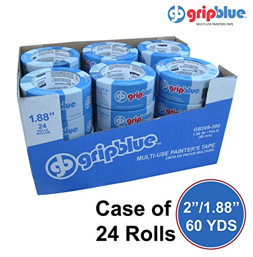 "GripBlue™ 2'' (1.88""/48mm) X 60 YDs Multi-Use Blue Painters Tape 