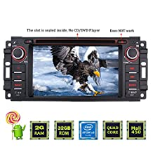 JOYING 6.2 inch Android 5.1 2GB Quad Core Car Radio Stereo for Dodge Ram Challenger Jeep Wrangler In Dash Vehicle HD Touch Screen GPS Navigation Bluetooth/WiFi/3G/4G