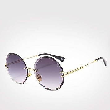 QZHE Gafas de sol Gafas De Sol Redondas Mujer Hombre Gafas ...
