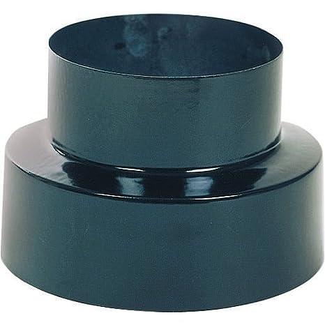 WOLFPACK 22010950 Reducción Estufa Vitrificado Color Negro de 120 a 100mm: Amazon.es: Bricolaje y herramientas