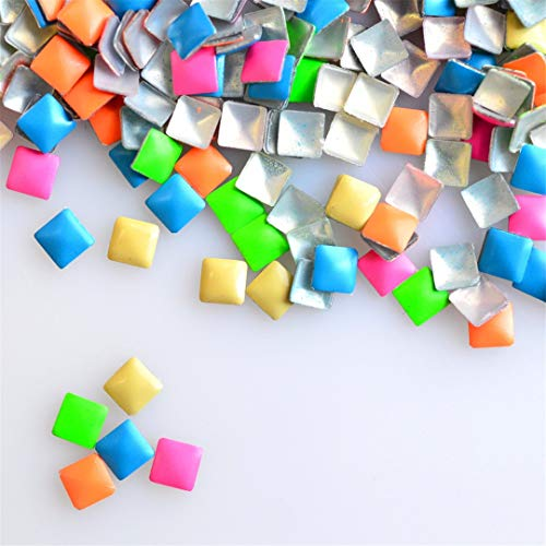 1000Pcs Candy Colorful Square 3Mm Nail Art Studs Glitter DIY Decor Sticker On Nails Tips Nail Art Decorations -