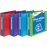 Mead 2-Inch D-Ring View Binder, Pack of 4, Assorted Colors (W465-44APP)