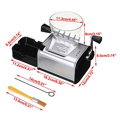 Oeyal Cigarette Rolling Machine Electric Cigarette Tobacco Roller Maker Automatic Cigarette Injector Maker Machine (Black) by Oeyal (Image #4)