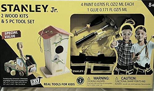 Stanley Jr. 2 Wood Kits & 5 PC Tool - Kit Jr