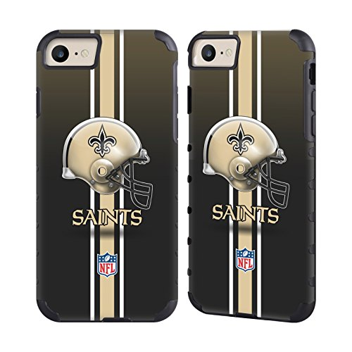 Cell Saints (Official NFL Helmet New Orleans Saints Logo Gold Gripper Case for Apple iPhone 7 / iPhone 8)