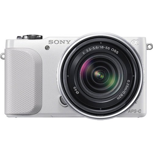 Sony NEX-3NK/W, NEX3N Compact Interchangeable Lens Digital Camera w/ E-Mount SEL 18-55mm f/3.5-5.6 Zoom Lens (White) [Electronics]