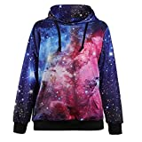Fanceey Space Galaxy 3d Sweatshirts Men Women Hoodies With Hat Print Stars Autumn Winter Loose Thin Hooded Hoody Tops