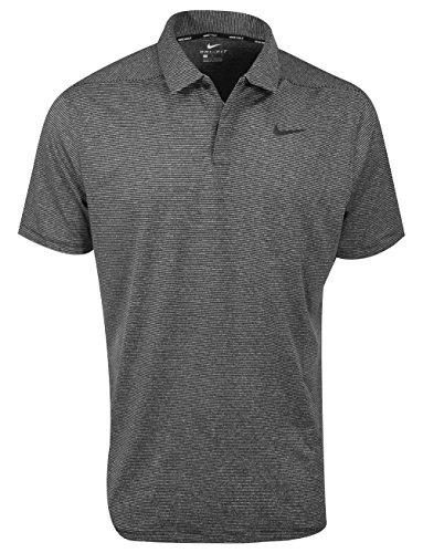 (Nike Dry Control Stripe Men's Golf Polo (Black,)