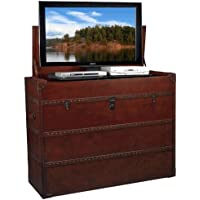 TV Lift Cabinet for 32-47 inch Flat Screens (Antique Leather)