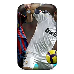 New Real Madrid Pepe Is Fighting For The Ball Skin Case Cover Shatterproof Case For Galaxy S3