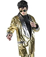 Men's Large Elvis Gold Jacket Costume