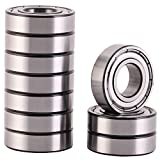 XiKe 10 Pack 6002ZZ Precision Bearings 15x32x9mm, Rotate Quiet High Speed and Durable, Double Shield and Pre-Lubricated, Deep Groove Ball Bearings.
