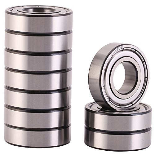 XiKe 10 Pack 6002ZZ Precision Bearings 15x32x9mm, Rotate Quiet High Speed and Durable, Double Shield and Pre-Lubricated, Deep Groove Ball Bearings. by XiKe