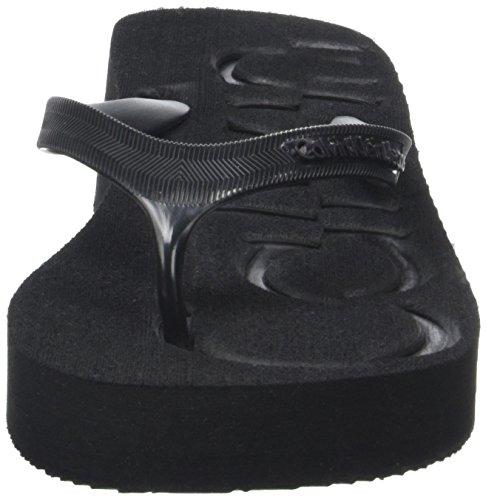 Calvin Klein Jeans R4117, Chanclas Mujer Negro (Bbk)