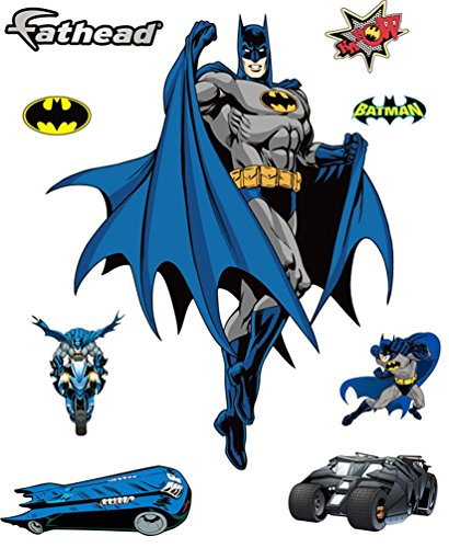 [Batman DIY Pre-Cut Wall Sticker Pack | Self Adhesive Peel & Stick Decals for Boys Room Decor, Pack of 09 Stickers] (Pre Cut Self Adhesive)
