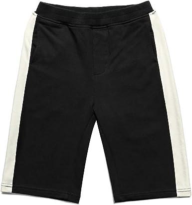 HUIZHI Kids Boys Jogger Shorts Kids Cotton Knit Shorts Summer Sweat Shorts with Drawstring 5-8T