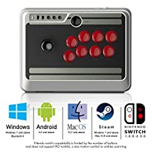 BPSMedia® Wireless Bluetooth Classic Wireless Pro N30 Arcade Stick Game Controller for iOS and Android Gamepad - PC - Windows - Mac - Linux - Square - Perfect to Play Classic Retro Games 8Bitdo (RTNS30AS)