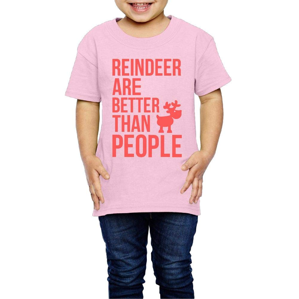 XYMYFC-E Christmas Reindeer are Better Than People 2-6 Years Old Boys /& Girls Short-Sleeved Tee Shirts