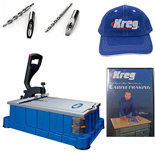 Kreg DB210 Foreman 110-Volt Pocket-Hole Machine, HD Drill Bit, Micro Drill Bit, Kreg Cap , and Cabinetmaking DVD by Kreg (Image #6)