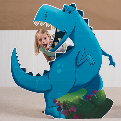 4 ft. 2 in. Dino Tales Dinosaur T-Rex Standee Standup Photo Booth Prop Background Backdrop Party Decoration Decor Scene Setter Cardboard Cutout